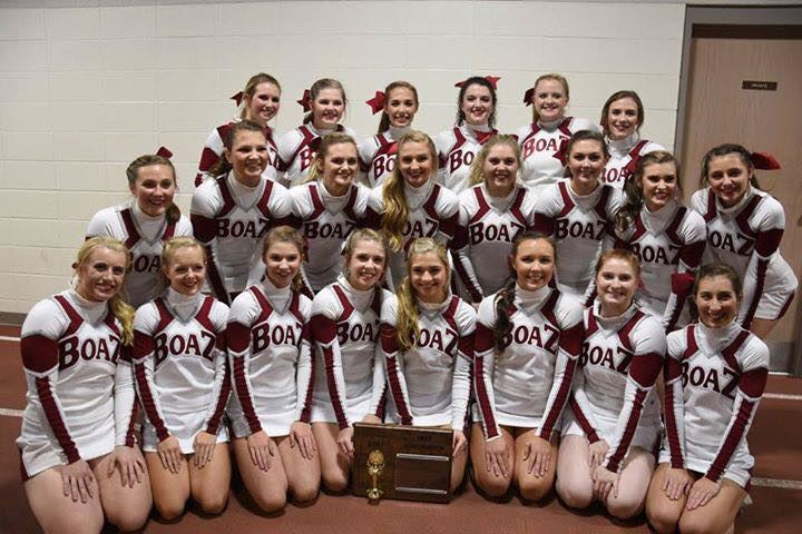 Congratulations to the BHS Cheerleaders for winning their fifth straight AHSAA State Cheer Championship.